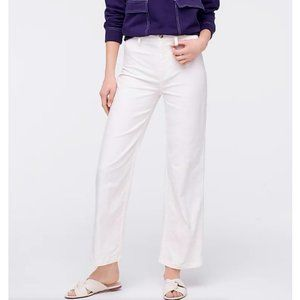 J.Crew $90 Slim Wide Leg Pant in Washed Canvas